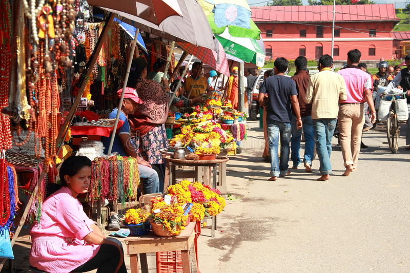 Pashupatinath Temple Market. royalty free stock photo