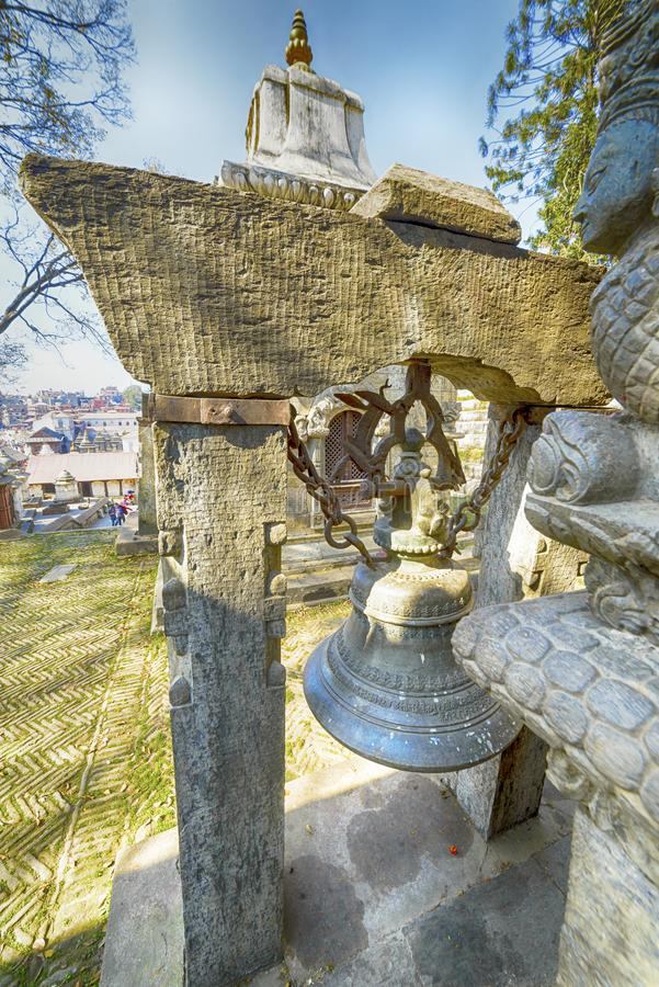 Pashupatinath Temple, Nepal, Kathmandu. December 2017 royalty free stock photo