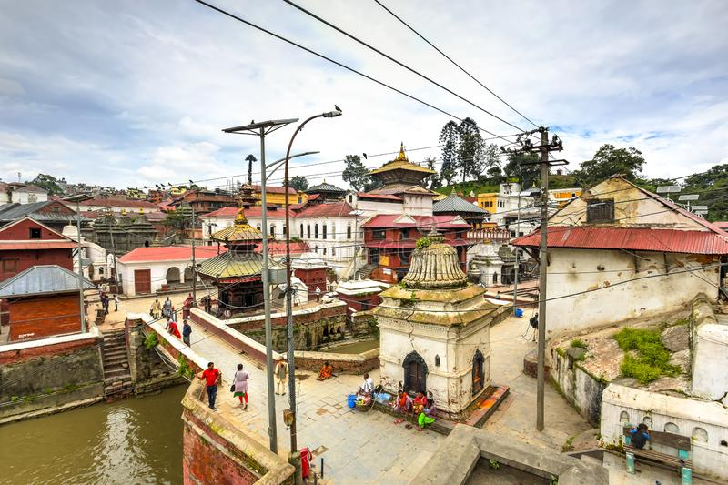 Pashupatinath Temple, Nepal. Pashupatinath Temple, the most famous and sacred Hindu temple complex, an UNESCO World Heritage Site located on the banks of the stock photos