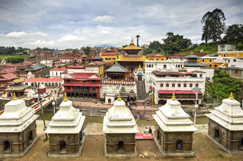 Pashupatinath Temple, Nepal. Pashupatinath Temple, the most famous and sacred Hindu temple complex, an UNESCO World Heritage Site located on the banks of the royalty free stock images