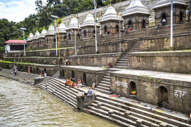 Pashupatinath Temple, Nepal. Pashupatinath Temple, the most famous and sacred Hindu temple complex, an UNESCO World Heritage Site located on the banks of the royalty free stock image