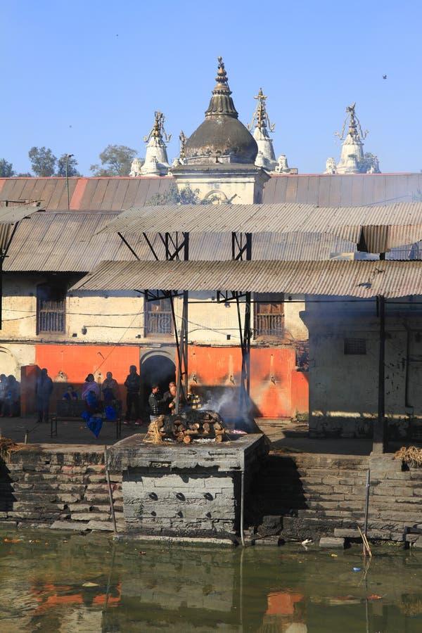 The Pashupatinath Temple stock photo