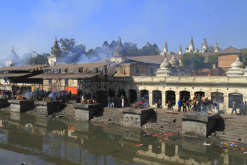 The Pashupatinath Temple stock photo
