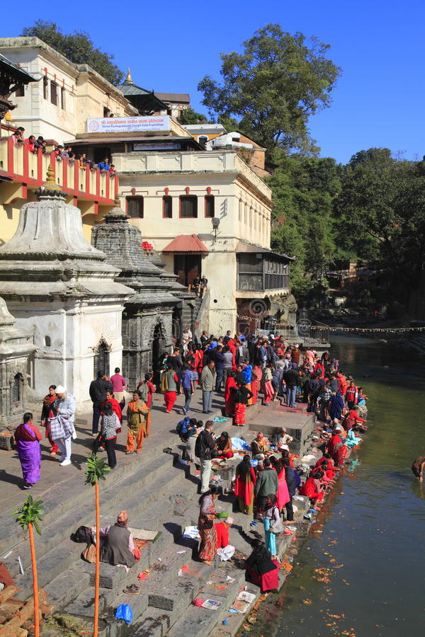 The Pashupatinath Temple stock image