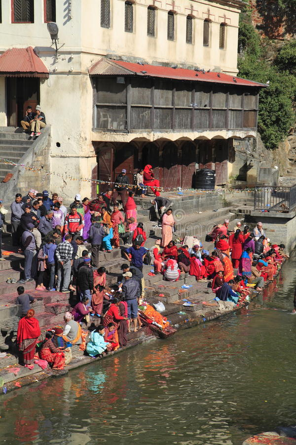 The Pashupatinath Temple. Pashupatinath Temple is Nepals most sacred Hindu shrine and one of the greatest Shiva sites, is located on the banks of the Bagmati stock photography