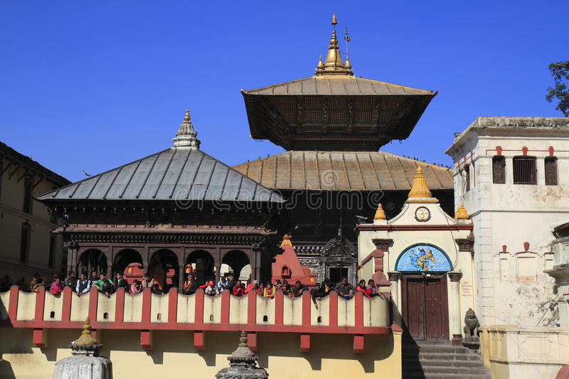 The Pashupatinath Temple stock images