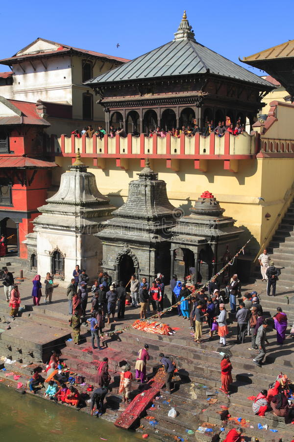 The Pashupatinath Temple royalty free stock photos