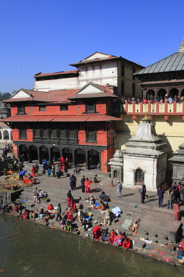 The Pashupatinath Temple royalty free stock image