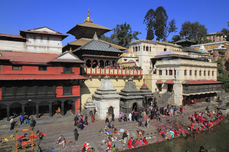 The Pashupatinath Temple royalty free stock photos