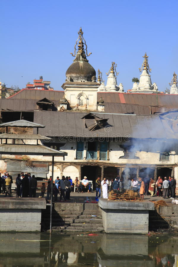 The Pashupatinath Temple. Pashupatinath Temple is Nepals most sacred Hindu shrine and one of the greatest Shiva sites, is located on the banks of the Bagmati stock images