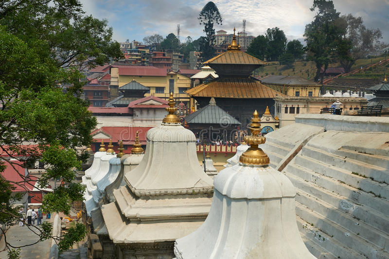 Pashupatinath. Temple is one of the most significant Hindu temples of Lord Shiva in the world, located on the banks of the Bagmati River in the eastern part of royalty free stock photo