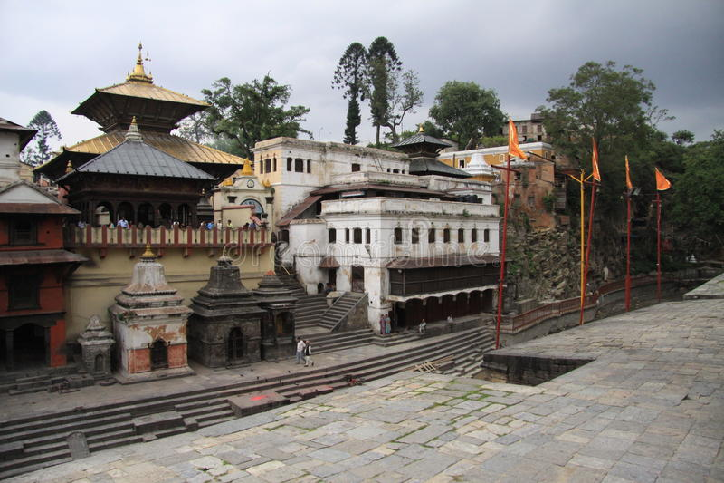 Pashupatinath Temple. Sacred place of Nepal. Place for cremation and Shiva Temple royalty free stock photo