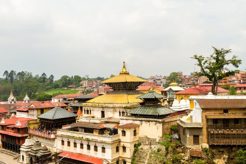 Pashupatinath Temple. View of Pashupatinath Temple Area,Kathmandu,Nepal stock photos