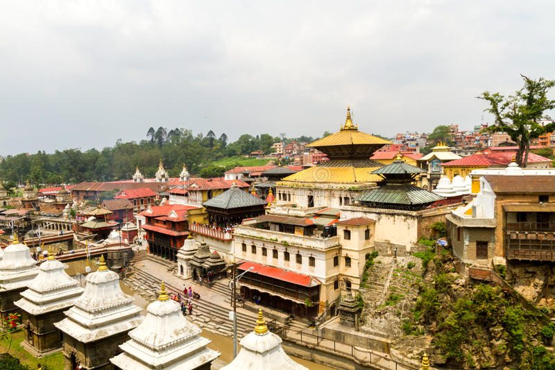 Pashupatinath Temple. View of Pashupatinath Temple Area,Kathmandu,Nepal stock photography