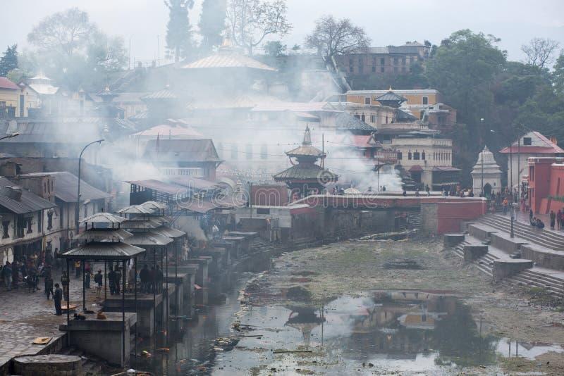 Pashupatinathtempel, Katmandu stock afbeelding