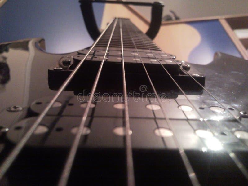 Pasión para la guitarra fotografía de archivo