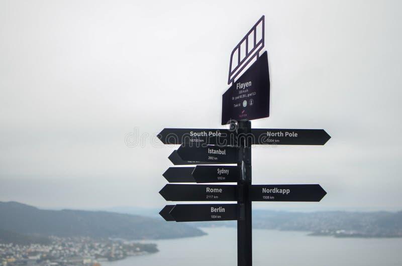 Pasión por los viajes en Noruega fotografía de archivo libre de regalías