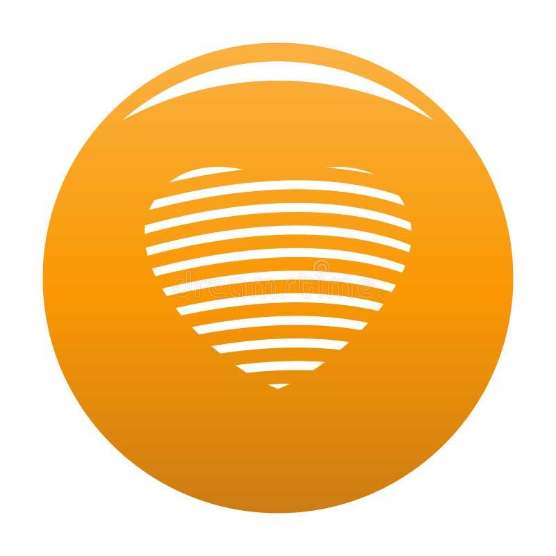 Pasiasta kierowa ikony pomarańcze ilustracja wektor