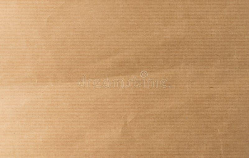 Pasiastego Brown rzemiosła papieru Odgórny widok z kopii przestrzenią fotografia royalty free