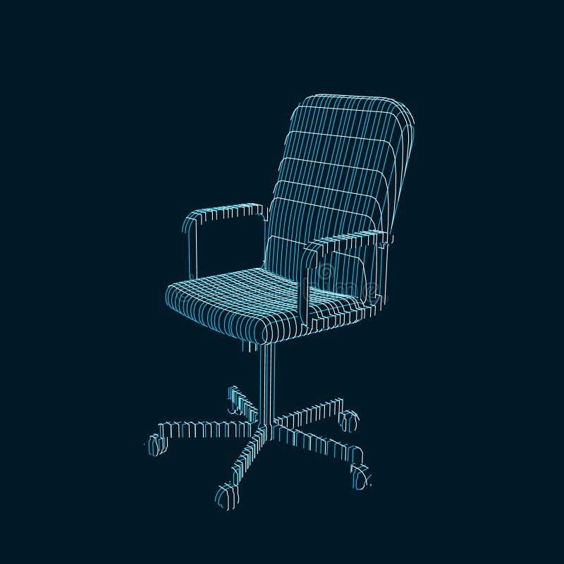 Pasiasty Biurowy krzesło wektor konturowa ilustracja ilustracji