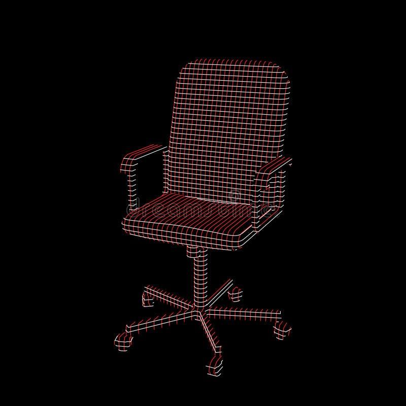 Pasiasty Biurowy krzes?o wektor konturowa ilustracja ilustracji