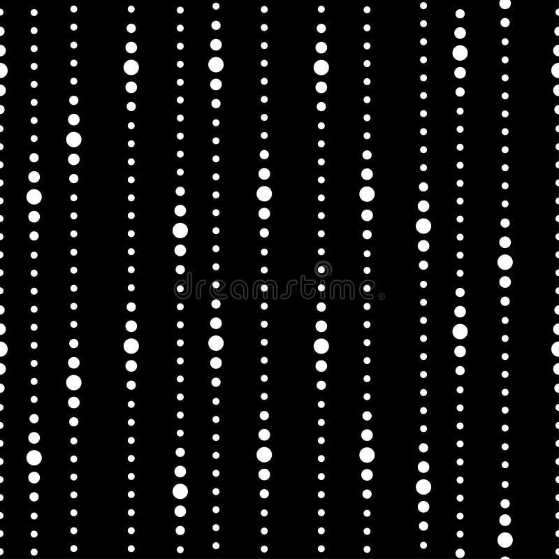 Pasiasty czarny i biały bezszwowy wzór ilustracji