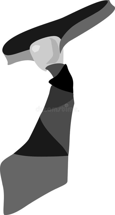pasiasty krawat ilustracja wektor