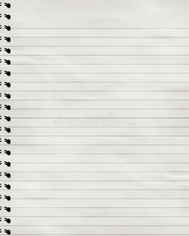 Pasiasty notatnik royalty ilustracja