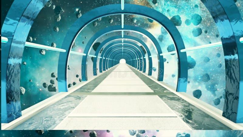 Pasillo abstracto del espacio de la ciencia ficción libre illustration