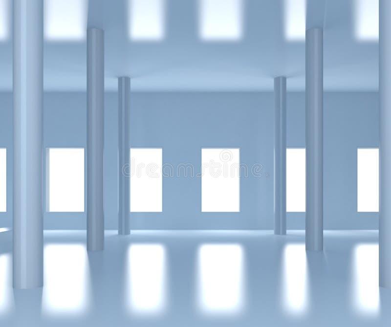 Pasillo ancho contemporáneo ilustración del vector