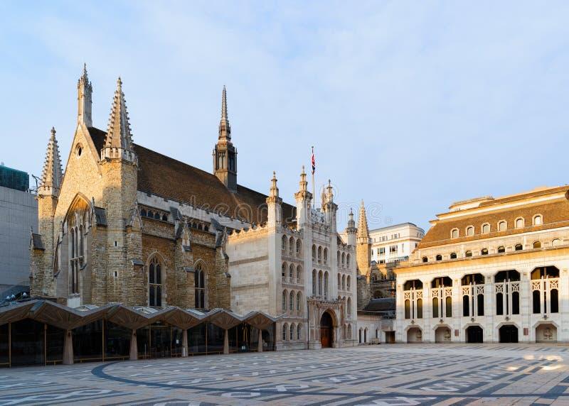Pasillo Art Gallery del consistorio y del gremio que construye en la calle Londres imágenes de archivo libres de regalías