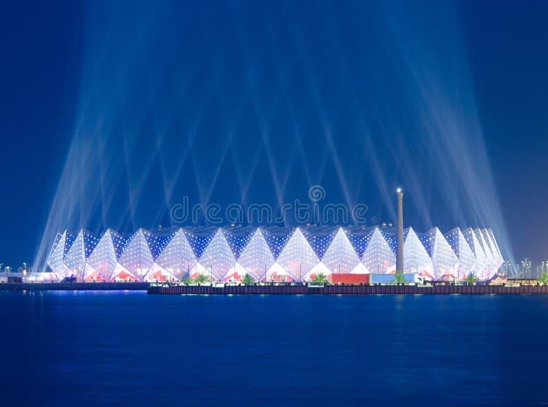 Pasillo cristalino - la Eurovisión 2012 imagenes de archivo