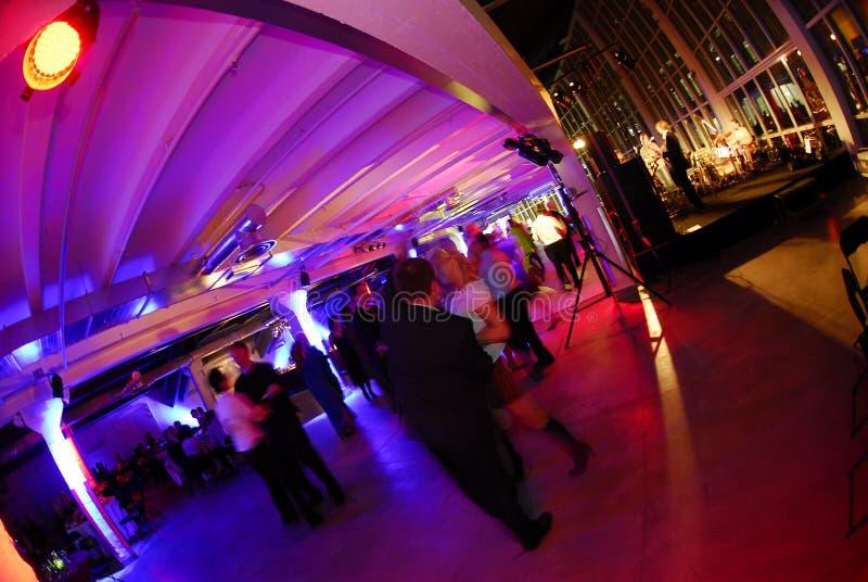 Pasillo de baile del partido   imagen de archivo