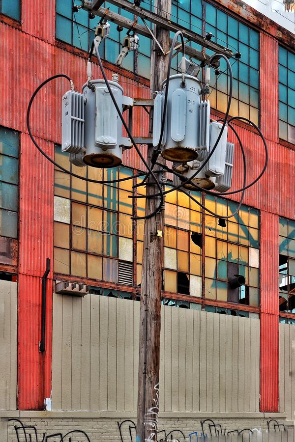 Pasillo de Detroit de la fábrica funcional imagen de archivo libre de regalías