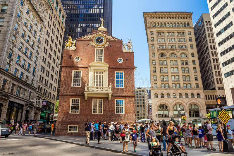 Pasillo de Faneuil en Boston fotografía de archivo