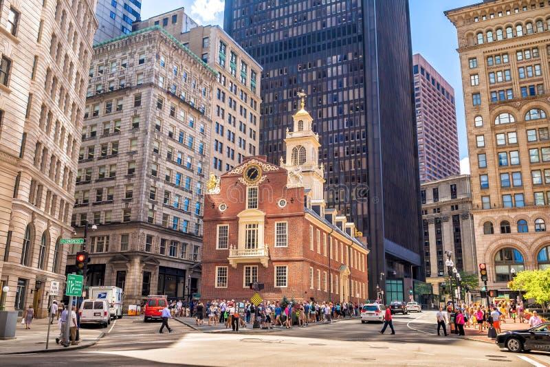 Pasillo de Faneuil en Boston imagen de archivo