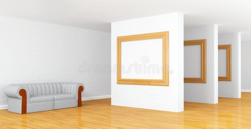 Pasillo de la galería libre illustration
