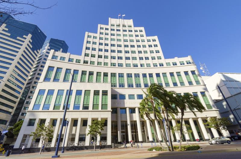 Pasillo de la justicia, San Diego foto de archivo libre de regalías