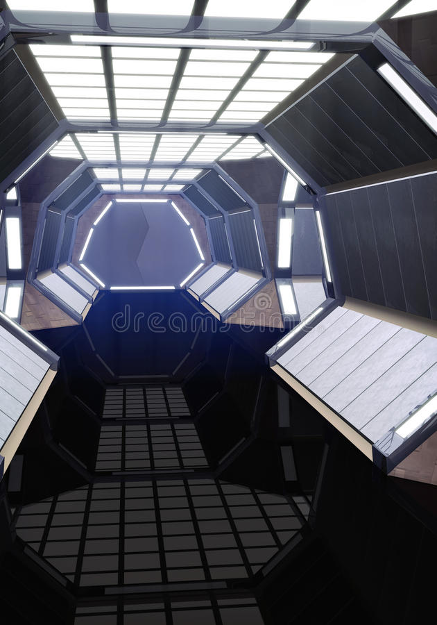Pasillo de la nave espacial libre illustration