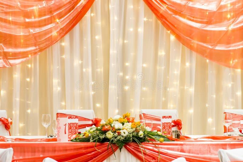 Pasillo de lujo de la boda imágenes de archivo libres de regalías