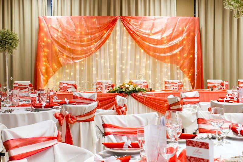 Pasillo de lujo de la boda fotografía de archivo libre de regalías