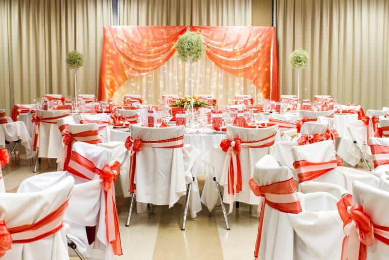 Pasillo de lujo de la boda imagen de archivo