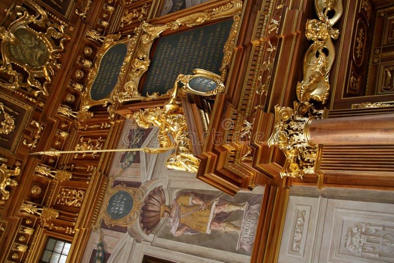Pasillo de oro Augsburg imagen de archivo libre de regalías