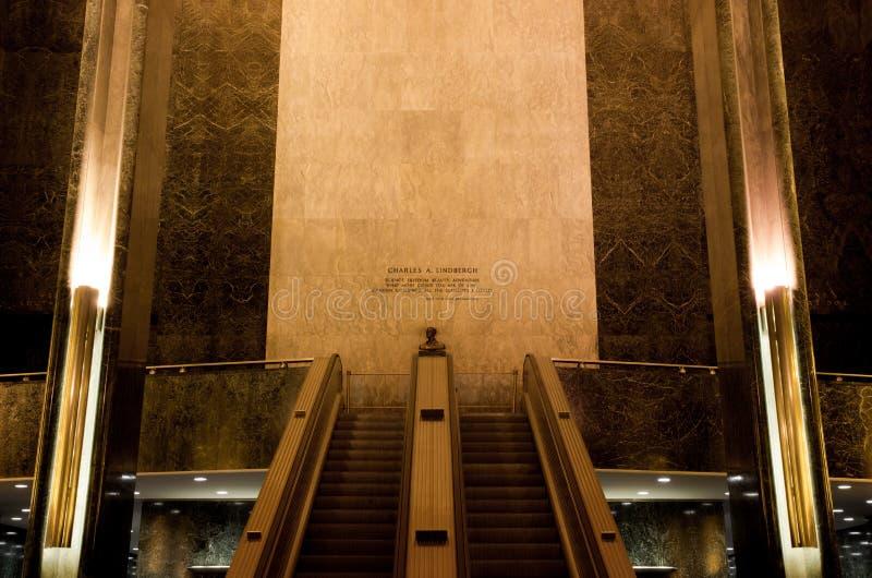 Pasillo de Rockefeller foto de archivo