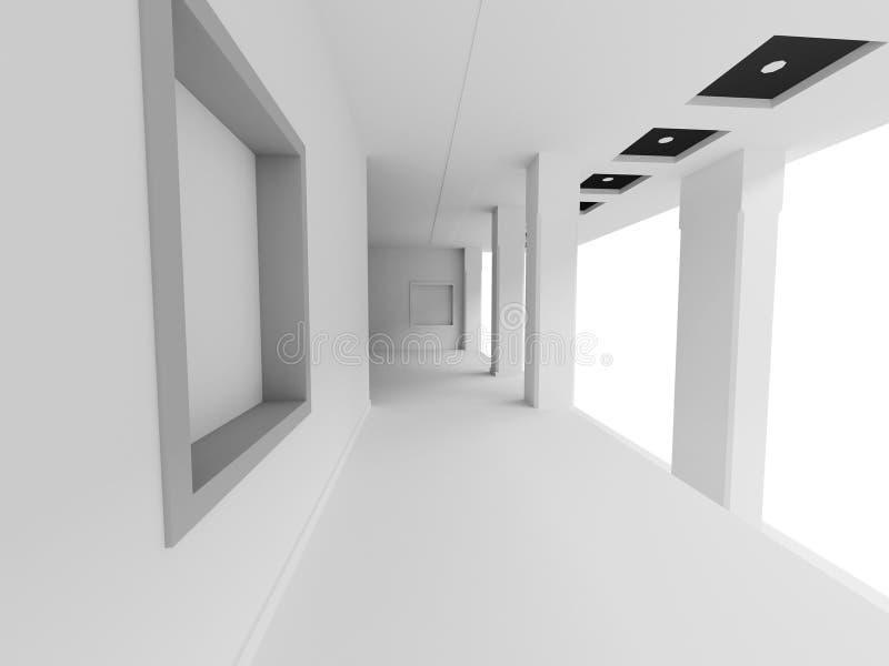 Pasillo de un edificio del asunto libre illustration