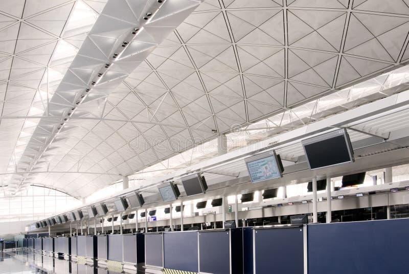 Pasillo del aeropuerto internacional de Hong-Kong fotos de archivo