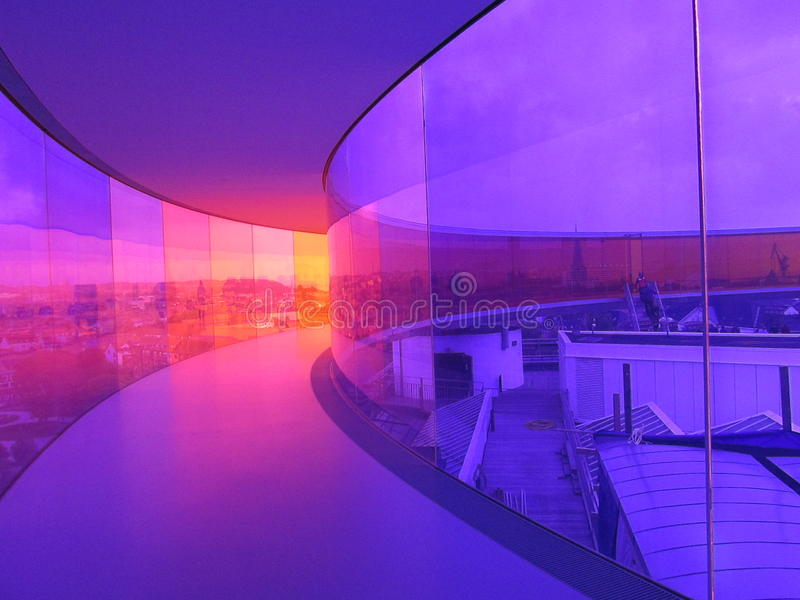 Pasillo del arco iris fotografía de archivo