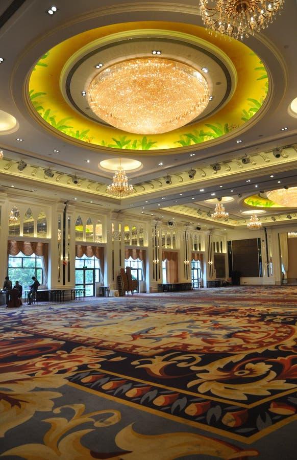 Pasillo del banquete del hotel de lujo imagenes de archivo