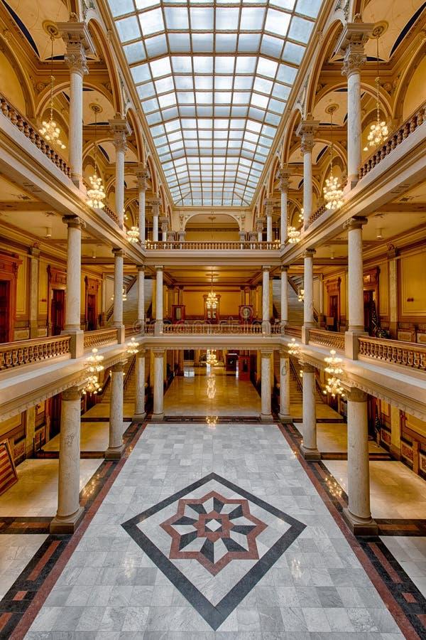 Pasillo del capitolio del estado de Indiana imagen de archivo