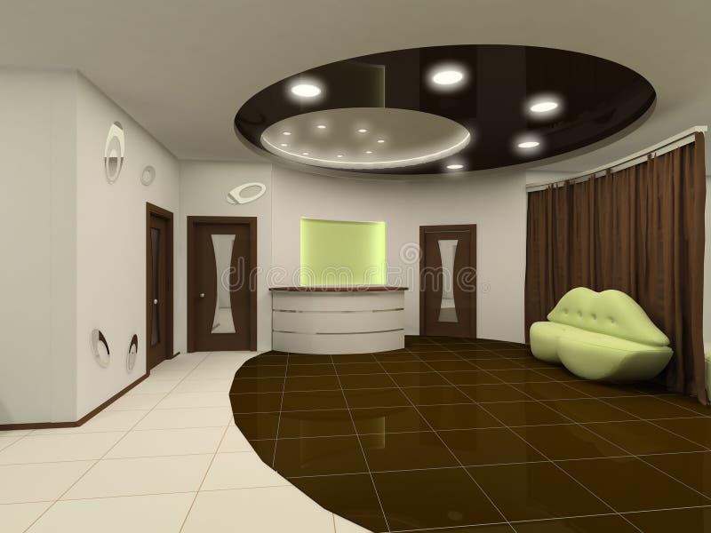 Pasillo Del Diseño Interior De La Recepción Con Muebles Stock de ...
